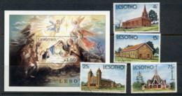 Lesotho 1980 Xmas Churches + MS FU - Lesotho (1966-...)