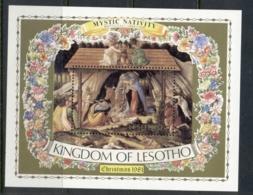Lesotho 1981 Xmas Nativity MS MUH - Lesotho (1966-...)