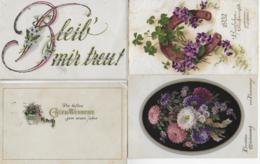 AK 0237  Blumen III - Konvolut Von 4 Karten Um 1910-20 - Blumen