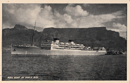 Mail Boat In Table Bay - B&W - South Africa - Bateau Postal - Afrique Du Sud - 1930-1935 - 2 Scans - South Africa