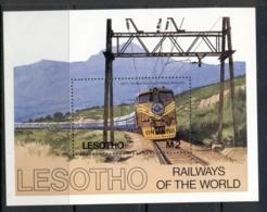 Lesotho 1984 Trains MS MUH - Lesotho (1966-...)