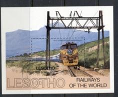 Lesotho 1984 Trains MS FU - Lesotho (1966-...)