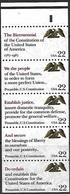 US  1987  Sc#2359a   22c  Constitution Booklet Pane Strip Of 5   MNH  2016 Scott Value  $4.50 - Estados Unidos