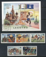 Lesotho 1980 Summer Olympics Moscow + MS FU - Lesotho (1966-...)