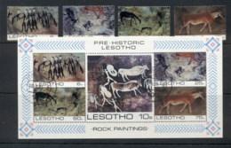 Lesotho 1983 Rock Paintings + MS FU - Lesotho (1966-...)