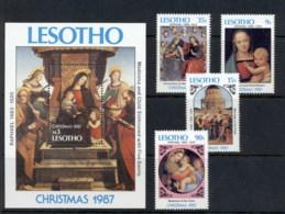 Lesotho 1987 Xmas + MS MUH - Lesotho (1966-...)