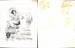 611671,Riesen-AK Brüssel Bruxelles Jugendstil Telegraphenstation Postwesen - Ohne Zuordnung