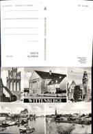 611635,Mehrbild Ak Wittenberge Steintor Kulturhaus Rathaus Hafen - Deutschland