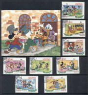 Lesotho 1983 Walt Disney Scenes From Old Christmas + MS FU - Lesotho (1966-...)