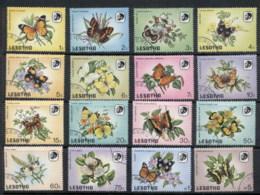 Lesotho 1984 Butterflies & Flowers FU - Lesotho (1966-...)