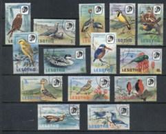 Lesotho 1981 Birds, No Wmk FU - Lesotho (1966-...)