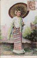Burmese Lady Rangoon Myanmar Burma C1908 W Stamp Postcard Z2 - Myanmar (Burma)