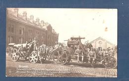Fotokaart Oostenrijks Skoda Mortier 30,5 Cm Te Brussel, Kazerne Van De Artillerie, Rolinkazerne Brussel Bruxelles 1914 - Guerre 1914-18