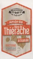 BIERE ETIQUETTE BRASSERIE DE THIERACHE AMBREE ARTISANALE - HOUBLON, OHAIN NORD, VOIR LE SCANNER - Bière