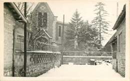 150519 - PHOTO 82 CAUSSADE - 1954 Temple Protestant - Neige - Caussade