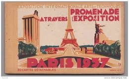 75) Paris - 1937 - Promenade à Travers L ´  Exposition Internationale Arts Et Techniques -  Carnet  Complet De  20 - Exhibitions