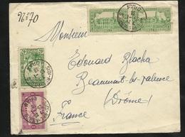 Algérie Lettre Sidi Bel Abbes Le 25/01/1938 Avec Les N° 104; 105 X2  (paire) Et 127   B/TB   Soldé ! ! ! - Briefe U. Dokumente
