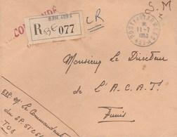 LETTRE FM REC BPM 409A - COMMANDANT SP 51256 - POUR DIRECTEUR L A.C.A.T - TUNIS 11/7/53 - Postmark Collection (Covers)