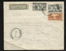 Liban Lettre Par Avion Beyrouth 1/1/1937 Les N° 141 X 2 & 139  Arrivée Lyon Le 04/01/1937 Via Marseille Le 3/01  B/TB - Liban
