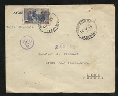 Liban Ayoub Frères Lettre Avion Beyrouth 15/05/1945 à Lyon Censure France Libre Croix Lorrraine SC 918-15  N°163  B/TB - Liban
