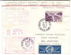 PA N° 26 Sur Lettre Recommandee Par Avion Pour Les USA - Marcophilie (Lettres)