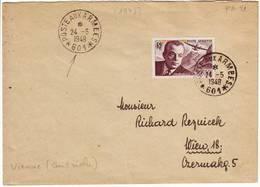 PA N° 21 Obl POSTE AUX ARMEES 601 Lettre Pour Vienne Autriche 1948 - Postmark Collection (Covers)