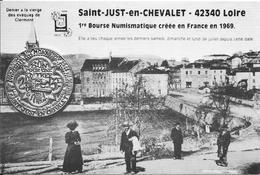 Saint-Just-en-Chevalet (Loire)-  1ère Bourse Numismatique Créée En France En 1969. 30è Bourse Aux Monaies - Collector Fairs & Bourses