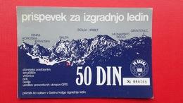 50 Din Prispevek Za Izgradnjo Ledin.PD KRANJ - Slovenia