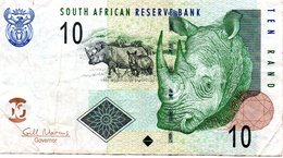 AFRIQUE DU SUD - Billet 10 Rand  South Africa - Rhinocéros Animal Jungle - Zuid-Afrika
