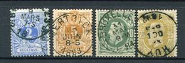 Belgien Nr.24, 25, 27 + 29 C          O  Used           (956) L 14 - 1869-1883 Leopold II.