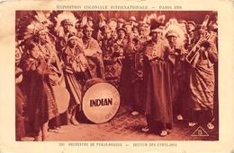 220 Orchestre De Peaux-Rouges Indians USA Expo Paris 1931 - Indiens De L'Amerique Du Nord