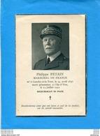 Philippe PETAIN-Requiescat In Pace-dépliant Format Cpa 4 Pages à La Gloire Du Maréchal à Sa Mort-1951 - Historische Documenten