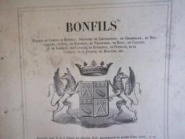1856 BONFILS - CHÂTEAUNEUF - CHABRILLAND - MONCALQUIER - OISE - PERTHUIS - VILLE VERTE - BOUC - CALLOUN - LOEMINE ETC... - Documentos Históricos