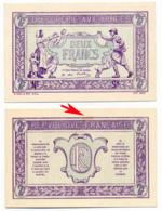 1917 // TRESORERIE AUX ARMEE // Deux Francs // EPREUVE - Treasury