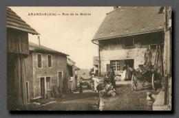 ARANDAS Prés SAINT RAMBERT EN BUGEY  La Rue De La Mairie Edition  Ravas Cliché GARDE (scan Recto-verso) FRCR00037P - Otros Municipios