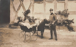 Carl Eduard Von Sachsen Coburg Und Gotha -Johan Leopold - Pricess Sybille Pony - Familles Royales
