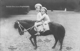 Prins Wilhelm Und Prins Louis Ferinand Von Preussen Pony - Familles Royales