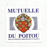 Autocollant , Mutuelle Du POITOU ,blason, 86, POITIERS - Stickers