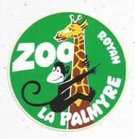 Autocollant , Animaux , ZOO LA PALMYRE ,  ROYAN - Stickers