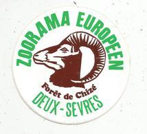 Autocollant , Animaux , ZOORAMA EUROPEEN ,forêt De CHIZE , 79 , Deux Sèvres - Autocollants