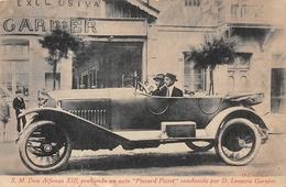 SM Don Alfonso VIII Probindo Un Auto Piccard Pictet Conducido Por D Leoncio Garnier SPAIN Royalty - Familles Royales