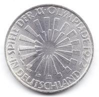 10 Mark Argent Allemagne 1972 Jeux Olympiques - [10] Commemorations