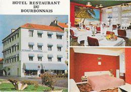 Hôtel-Restaurant Du Bourbonnais, Place Epinat, Vichy - Carte Non Circulée - Hotels & Restaurants