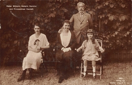 Kaiser Wilhelm Kaiserin Hermine Und Prinzesinnen Carolath - Familles Royales