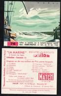 Chromos & Images > Fiches Illustrées > Non Classés Biscottes PRIOR Paris Match La Marine N°76 - Schiffe