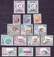 CYPRUS 1960 Republic : Stamps Of Cyprus Overprinted Complete MNH Set Vl. 1 / 15 - Ongebruikt