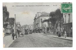 78/ YVELINES...VERSAILLES. Rue Duplessis Et Boulevard De La Reine... TRAMWAY - Versailles