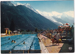 Chamonix - Mt Blanc - Le Centre Nautique - PISCINE - Mont-Blanc Et L'Aiguille Du Midi - (74) - Chamonix-Mont-Blanc