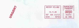 Ema Satas SB - Utilisation D'un Message Programmé -  Enveloppe Entière - Freistempel