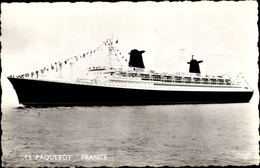 Cp Paquebot France, CGT, French Line, Dampfschiff - Bateaux